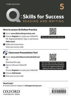 画像1: Q:Skills for Success 3rd Edition Reading and Writing Level 5 Teacher Resource Access Code Card