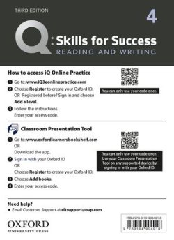 画像1: Q:Skills for Success 3rd Edition Reading and Writing Level 4 Teacher Resource Access Code Card