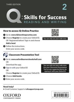 画像1: Q:Skills for Success 3rd Edition Reading and Writing Level 2 Teacher Resource Access Code Card