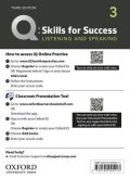 Q:Skills for Success 3rd Edition Listening and Speaking Level 3 Teacher Resource Access Code Card