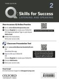 Q:Skills for Success 3rd Edition Listening and Speaking Level 2 Teacher Resource Access Code Card