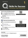 Q:Skills for Success 3rd Edition Listening and Speaking Level 1 Teacher Resource Access Code Card