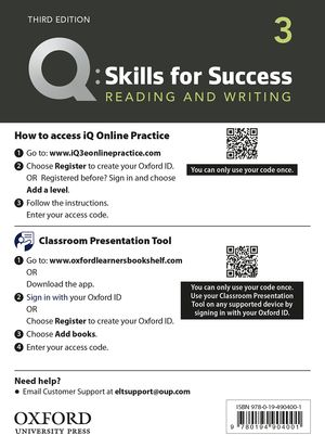 Q skills for success reading and writing 2 teachers book