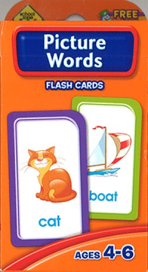 画像1: Picture Words  School Zone Flash Card