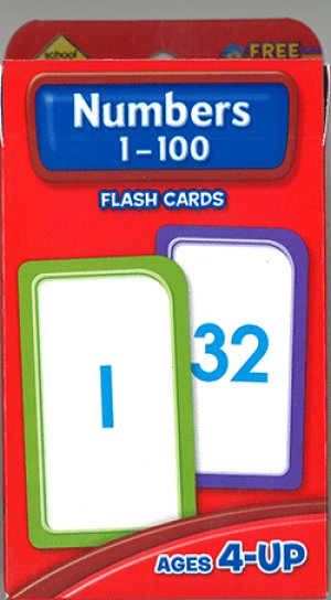画像1: Numbers1-100 School Zone Flash Card