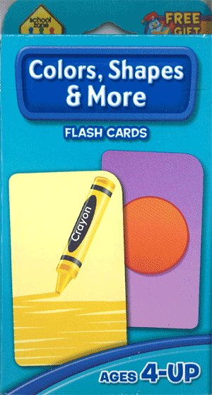 画像1: Color,Shapes & More  School Zone Flash Card